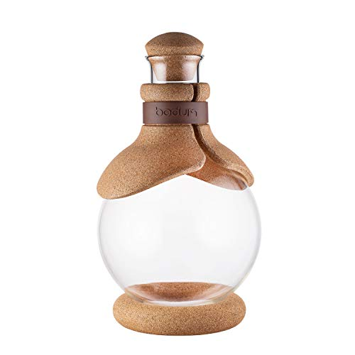 Bodum Melior Dekanter, Infusionskaraffe Gløgg 1 L, Glas, Beige, 12.8 x 12.8 x 21.8 cm