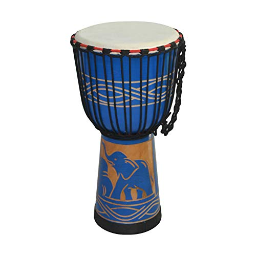 10 Pulgadas Djembe Drum Sand Blowed, Efecto único Inspirado Africano Hecho a Mano Hecho a Mano Playa Costera Cebra Accent Música para Principiantes Niños y Adultos