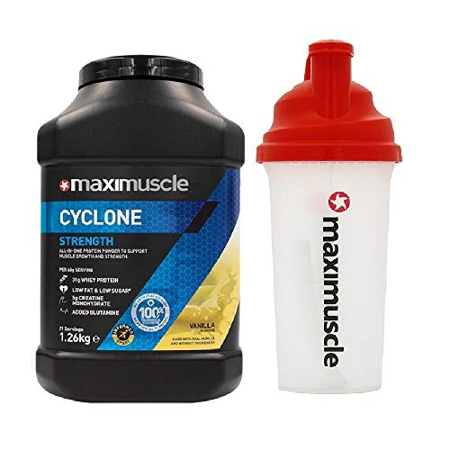 Maximuscle Cyclone - 1.26kg - Vanilla with Shaker