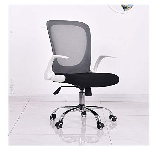 Huining Ergonomischer Schreibtischstuhl, Drehstuhl Hat Verstellbarer Lordosenstütze Und Armlehne Höhenverstellung Und Rückenschonend,Black,Nylon