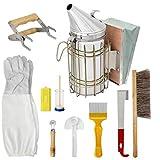 Apicoltura Tools Kit Accessori Set Bee Hive Starter Kit durevole Beekeeper accessori per la casa con Beehive Fumatore 10PCS
