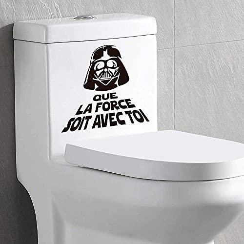 Autocollants de toilette Star-Wars May The Force Be with You Stickers pour toilette 2 PCS