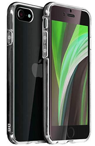 TBOC Funda para Apple iPhone SE (2020) [4.7'] - Carcasa [Transparente] Completa [Silicona TPU] Doble Cara [360 Grados] Protección Integral Total [Delantera Flexible] [Trasera Rígida] Lateral Móvil