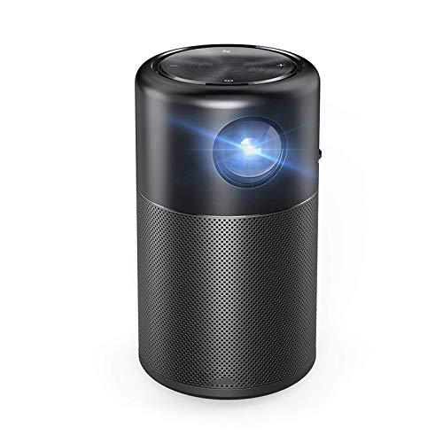 SHUNFENG-EU Proyector Inteligente, proyector de Wi-Fi Portátil Pocket Cinema de Bolsillo con Altavoces DLP de 360 Pulgadas Picea 100 Pulgadas Android 7.1 y aplicación