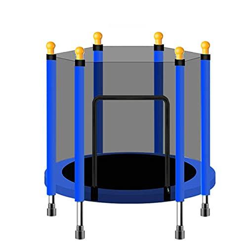 Goodvk Trampolín Large 140 cm de trampolín Interior con niños Adultos Bed Hombros Cama DE TRUMBOLINES ALTERIOR Ejercicio Equipo DE Ajuste Fácil de Almacenar (Color : Azul, Size : 140x30cm)