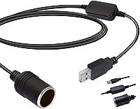 ►USB-Eingang: 5 V / 2A, Zigarettenanzünderausgang: 12 V / 8 W max. Die Kabellänge beträgt 35 cm. ►Performance:USB Port Power Converter, wandelt Strom von USB Port zu 12 V Zigarettenanzünder Buchse um. (Bitte überprüfen Sie die Leistung des Geräts, da...