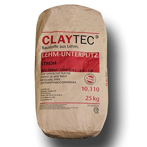 CLAYTEC Lehm-Unterputz mit Stroh, Sackware