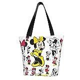 Bolsas de hombro Mickey Mouse Minnie de moda y exquisitas de gran capacidad multiusos de lona, bolsas de compras, bolsas de hombro, para mujer