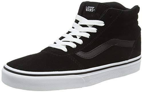 Vans Damen Ward Hi Hohe Sneaker, Schwarz ((Suede) Black/White 0xt), 38 EU