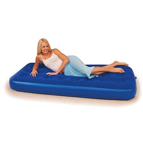 Colchón hinchable para cama de aire, individual elevado, flocado Bestway, tamaño 73' x 30' x 8.5'