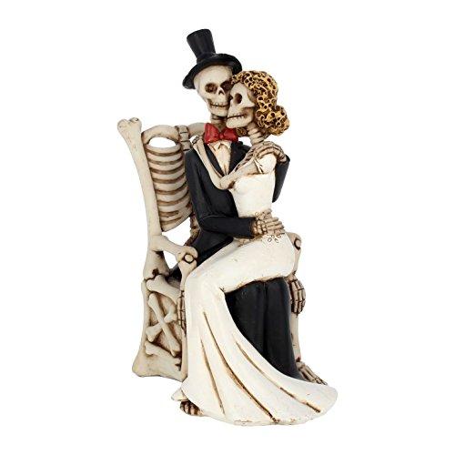 NN Deko Figur Gothic Fantasy Brautpaar Hochzeit Fantasy Halloween Tortendeko