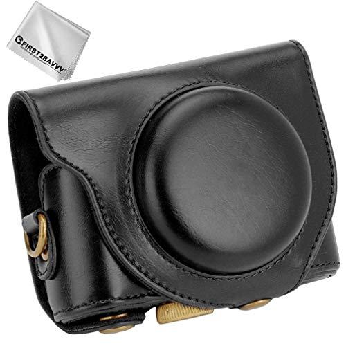 Schwarz Premium Qualität Ganzkörper- präzise Passform PU-Leder Kameratasche Fall Tasche Cover für Sony Cyber-Shot DSC HX99 HX95 HX90V HX80
