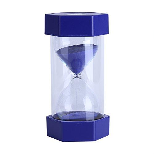 Färgglada timglas, Fydun Timer Färgglada sandglas timglas 3/10/20/30/60 Minute Timer Clock Home Office Decor Gift (60 Minutes Blue)