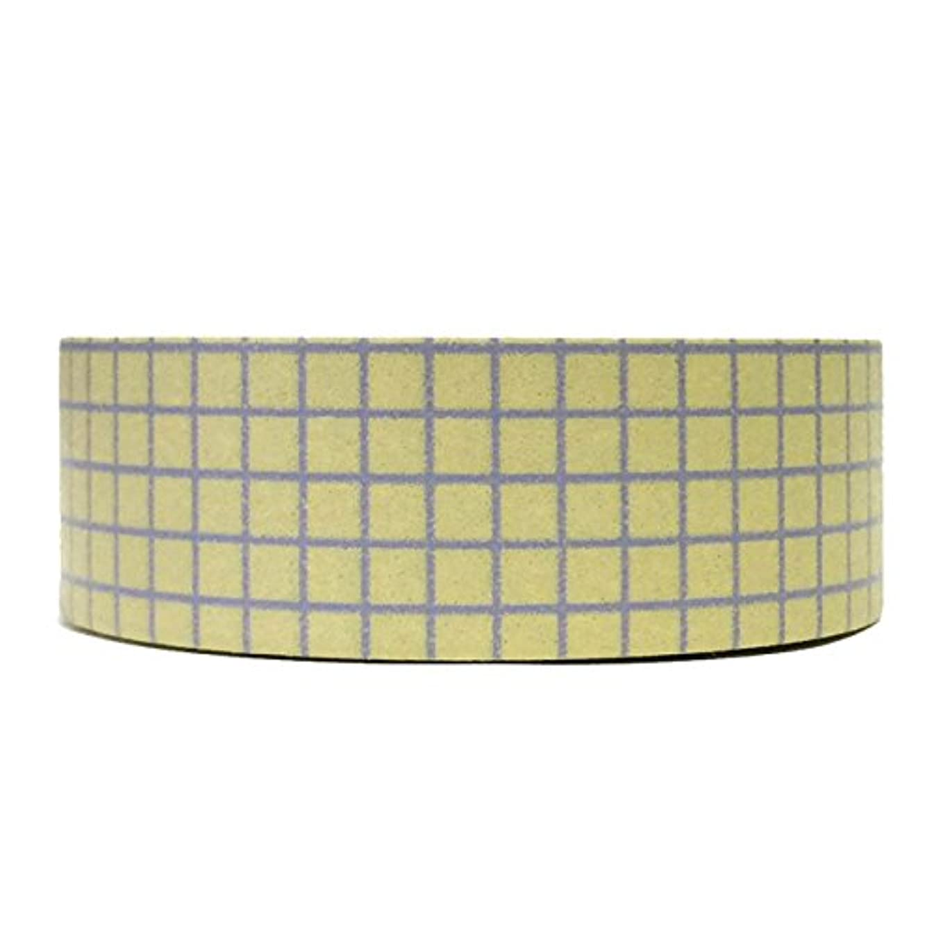 Wrapables Colorful Patterns Washi Masking Tape, Lavender Gingham