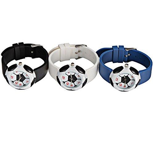 DISOK - Set di 10 orologi Pallone Calcio - Orologio Calcio per Bomboniera Comunione Regali Originali Orologi