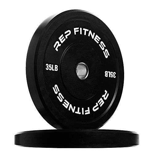 Rep Bumper Plates for Strength and Conditioning Workouts and Weightlifting 160 lb Set