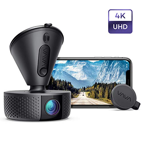 Dash Cam, VAVA 4K 3840X2140@30Fps Wi-Fi Car with Sony Night Vision Sensor, Dashboard Camera Recorder with Parking Mode, G-Sensor, Loop Recording, Support 256GB Max