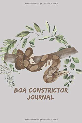 Boa Constrictor Journal: Schlangen Tagebuch - Logbuch für Haltung von Boas I Terrarium Planer Notizbuch I Journal für ein halbes Jahr I Schlange Futter Tracking