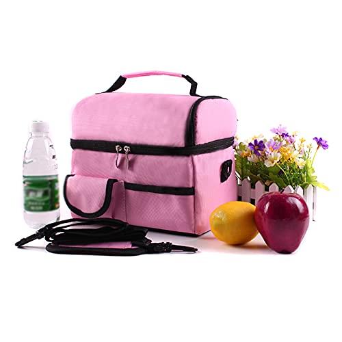 Bolsa de almuerzo, enfriador con aislamiento, bolsa de almuerzo térmica para acampar, playa, picnic, correa de hombro ajustable, bolsa de bebidas suave plegable para hombres, mujeres y adultos