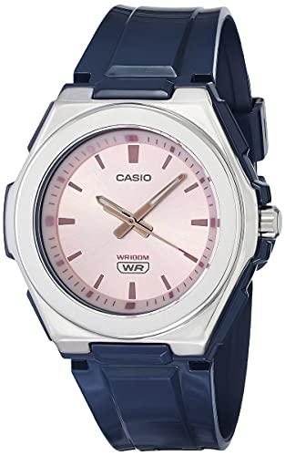 Casio Women's Stainless Steel Quartz Resin Strap, Blue, 22 Casual Watch (Model: LWA-300H-2EVCF)