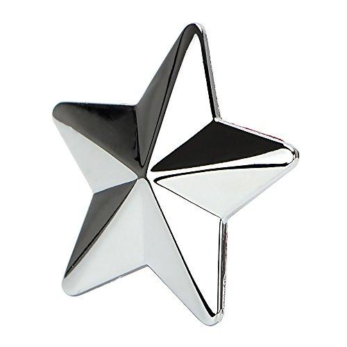 3D Star autosticker, gepersonaliseerde autostyling, autostickers en stickers voor het verwijderen van metalen badge (zilver)