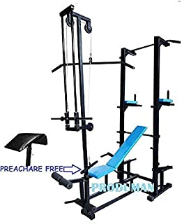 Rjkart Muscle Gaining Multipurpose Tower with Push up DIPS and ABS Workout with 20 in 1 Bench 2x2 Double Supported Pipe Powder Coated Bench Gym Equipment Model-2