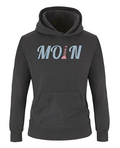 Comedy Shirts - Fitness-Pullover & -Sweatshirts für Mädchen in Schwarz / Eisblau-rosa, Größe 134-146
