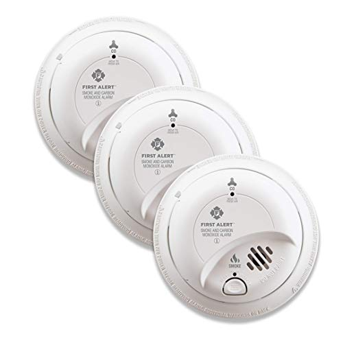 FIRST ALERT BRK SC9120B-3 Hardwired Smoke and Carbon Monoxide (CO) Detector with Battery Backup. 3-Pack