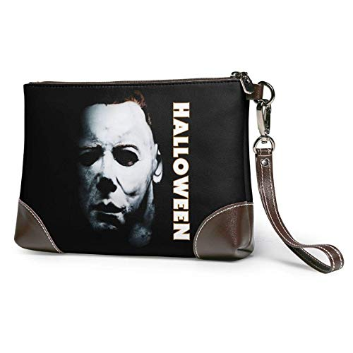 Michael Myers Women's Leather Clutch Hand Bag. Gift .Envelope Bag, Wallet and Carrying Case.