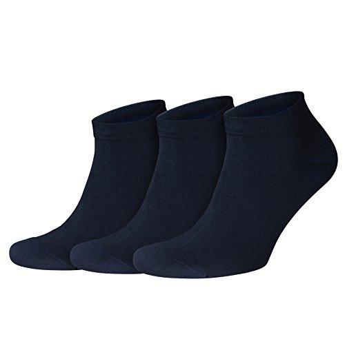 Joop! Herren Socken 'Basic Soft Cotton Sneaker Men' 6er - Hochwertige Sneakersocken, Sechs Paar - Navy - Größe EU 43-46 (002_H-3000-4346)