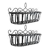 UPKOCH 2 maceteros colgantes para colgar en la pared, en balcón, barandilla, soporte...