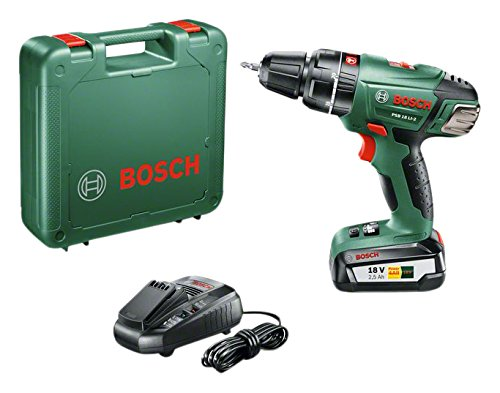 Bosch Akku Schlagbohrschrauber PSB 18 LI-2 (1 Akku, 18 Volt System, im Koffer)
