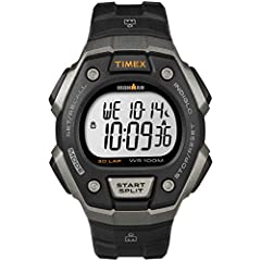 Adjustable black 18mm resin strap fits up to 8-inch wrist circumference 100-hour chronograph with 30-lap memory; 24-hour countdown timer 3 daily, weekday or weekend alarms; 24-hour military time mode; 2 time zones; day, date & month calendar Gray & b...