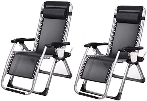 YUDIAN Lightweight Sun Lounger Foldable Garden Chairs Set of 2 Folding Reclining Sun Lounger,Office Garden Beach Reclining Chair | Siesta Folding Deck Chair | Heavy Duty Folding Recliner Beach Chai