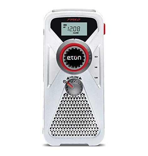 Eton Turbina de mano AM/FM/NOAA Radio meteorológica con cargador USB para smartphone y linterna LED