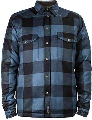 John Doe Motorrad Hemd Lumberjack Shirt Blue-XXXL