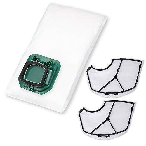 24 Staubsaugerbeutel + 2 Filter passend für Vorwerk Kobold VK 140/150 - Bestleistung beim Saugen - Hochwertige Qualität