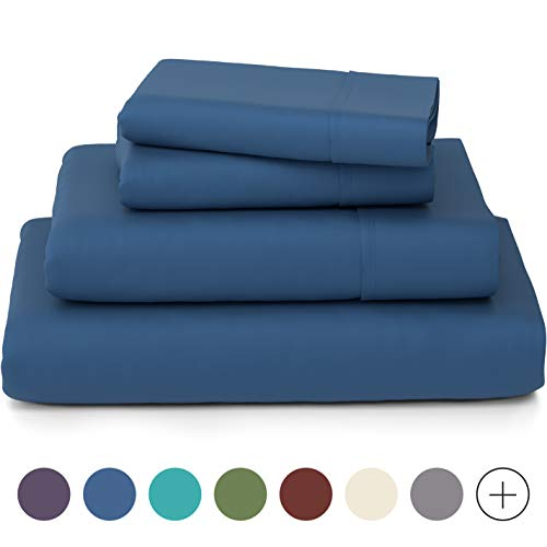 Luxury Bamboo Fiber Bed Queen Sheet Set Hypoallergenic & Wrinkle Resistant – $30.51 (27% OFF)