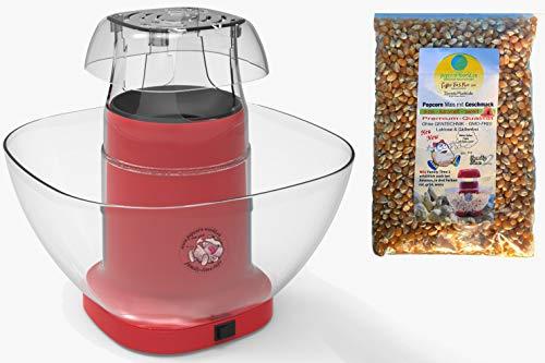 Family Time Popcornmaschine Airpop ohne Fett. Popcornautomat Heissluft inkl.Mais