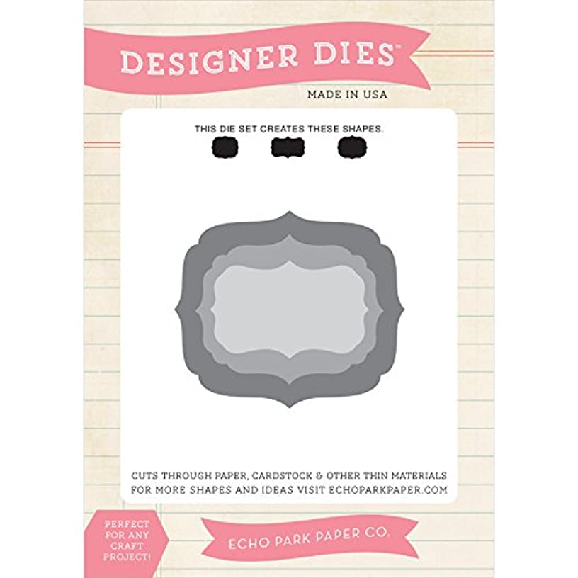 Echo Park Paper Company Designer Label #1 Die Set