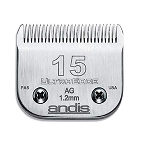 Andis 64072 Carbon-Infused Steel UltraEdge Dog Clipper Blade, Size-15, 3/64-Inch Cut Length
