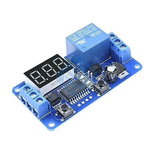 DC 12V Pantalla LED Módulo de interruptor de control de temporizador de retardo digital Automatización de PLC ARRIBA