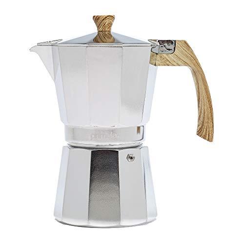 Primula - Cafetera de aluminio para estufa de expreso, percolador para Moka, café cubano, capuchino, café con leche y más, perfecto para acampar, 6 tazas, pulido