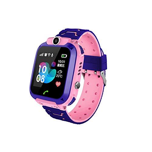 Baalaa Impermeable Q12 Watch MultifuncióN NiiOs Reloj de Pulsera Digital Baby Watch Phone para iOS Android Kids Toy Gift Rosado