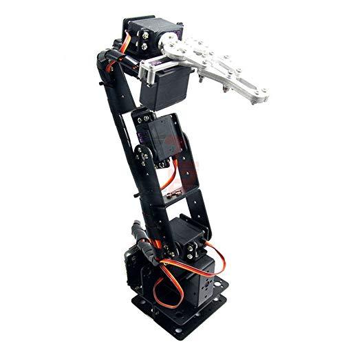1Set Aluminium Robot 6 DOF Arm Mechanical Robotic Arm Clamp Claw Mount Kit Without Servos for Arduino DIY Robot Parts