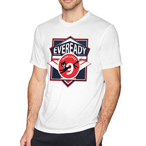 QDGERWGY Eveready Battery1 Men's Short Sleeve t-Shirt White