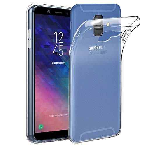 ebestStar - kompatibel mit Samsung Galaxy A6 2018 Hülle SM-A600F Handyhülle [Ultra Dünn], Premium Durchsichtige Klar TPU Schutzhülle, Soft Flex Silikon, Transparent [Phone: 149.9x70.8x7.7mm, 5.6'']