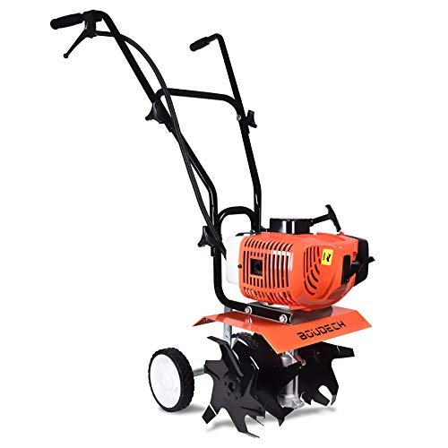 Cultivador Motorazada 2 tiempos motor gasolina 52Cc y 1,2Hp ancho trabajo 30cm