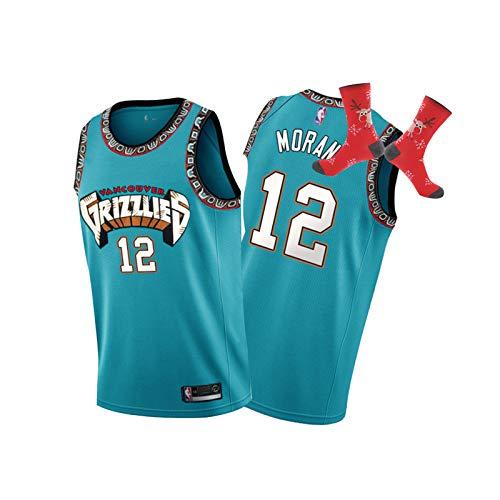 TNXO Ja Morant Jersey, Vancouver Grizzlies No.12 Icon Edition Swingman Jersey, Player Edition Fan Fan Fiber Jersey de baloncesto transpirable