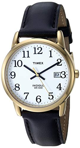 Timex Men's T2H291 Easy Reader 35mm Black Leather Strap Watch